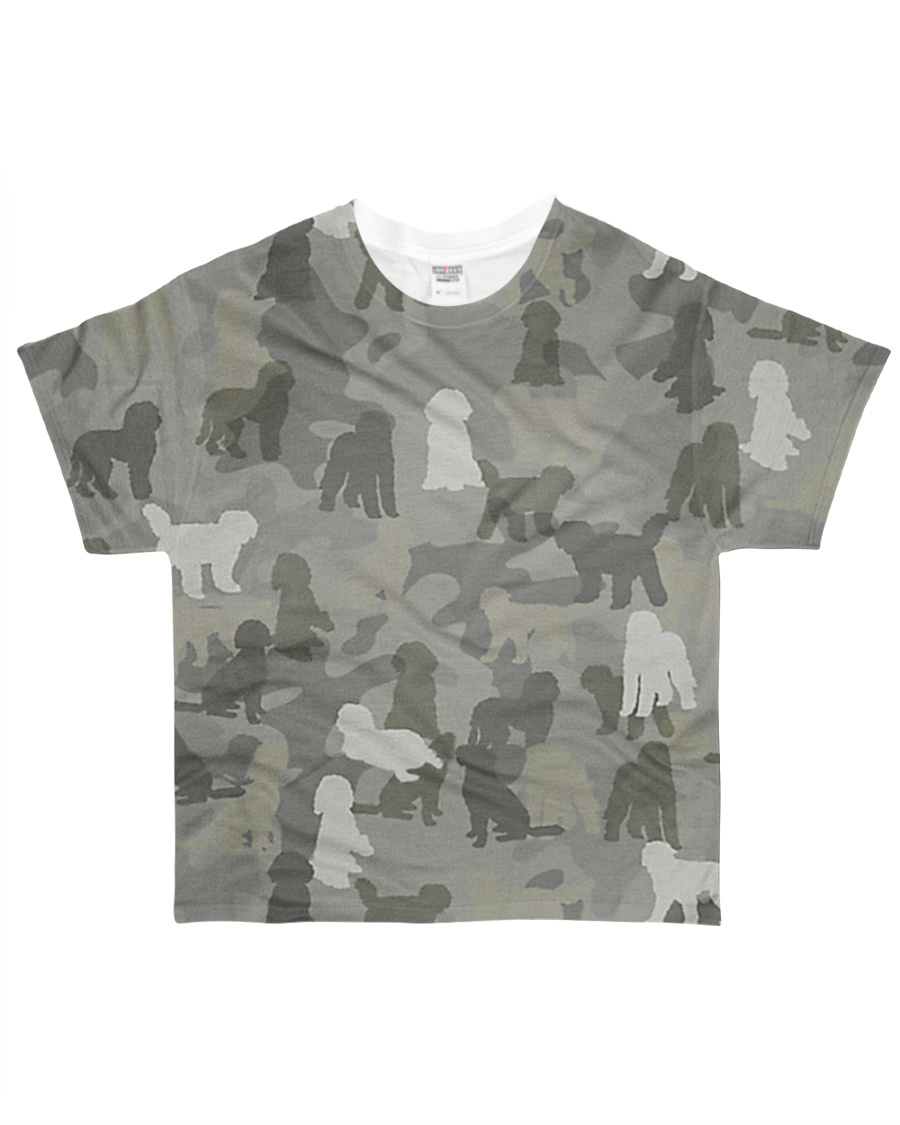 Camo Goldendoodle All-over T-Shirt