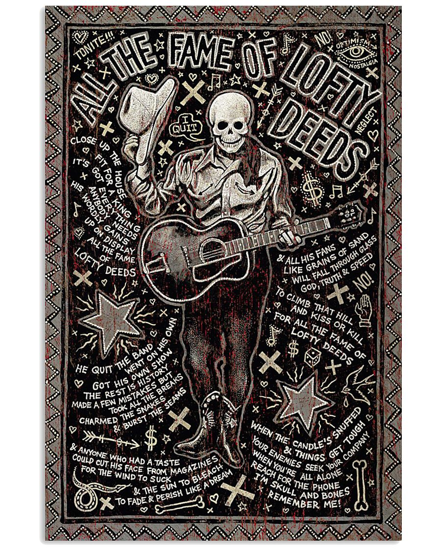 Guitar All The Fame Of Lofty Deeds 11x17 Poster