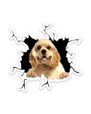 American Cocker Spaniel Sticker - Single (Vertical) front