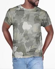 Camo Pomeranian All-over T-Shirt aos-all-over-T-shirt-lifestyle-front-04
