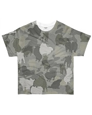 Camo Pomeranian All-over T-Shirt front