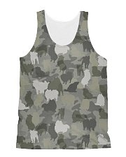 Camo Pomeranian All-over Unisex Tank thumbnail