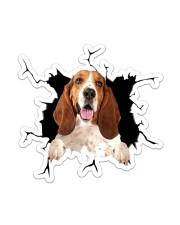 Basset Hound Sticker - Single (Vertical) front