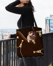 English Bulldog All-over Tote aos-all-over-tote-lifestyle-front-05