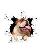English Bulldog Sticker - Single (Vertical) front