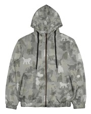 Camo Labradoodle Men's All Over Print Full Zip Hoodie thumbnail