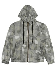 Camo Labradoodle Women's All Over Print Full Zip Hoodie thumbnail