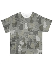 Camo Labradoodle All-over T-Shirt front