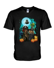 Dachshund - Halloween V-Neck T-Shirt thumbnail