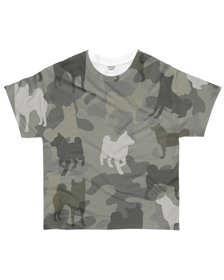 Shiba Inu - Camouflage All-over T-Shirt