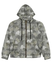 Camo Cavalier King Charles Spaniel  Women's All Over Print Full Zip Hoodie thumbnail