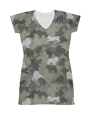 Camo Cavalier King Charles Spaniel  All-over Dress thumbnail