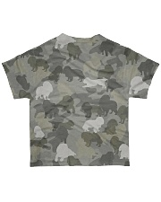 Camo Cavalier King Charles Spaniel  All-over T-Shirt back
