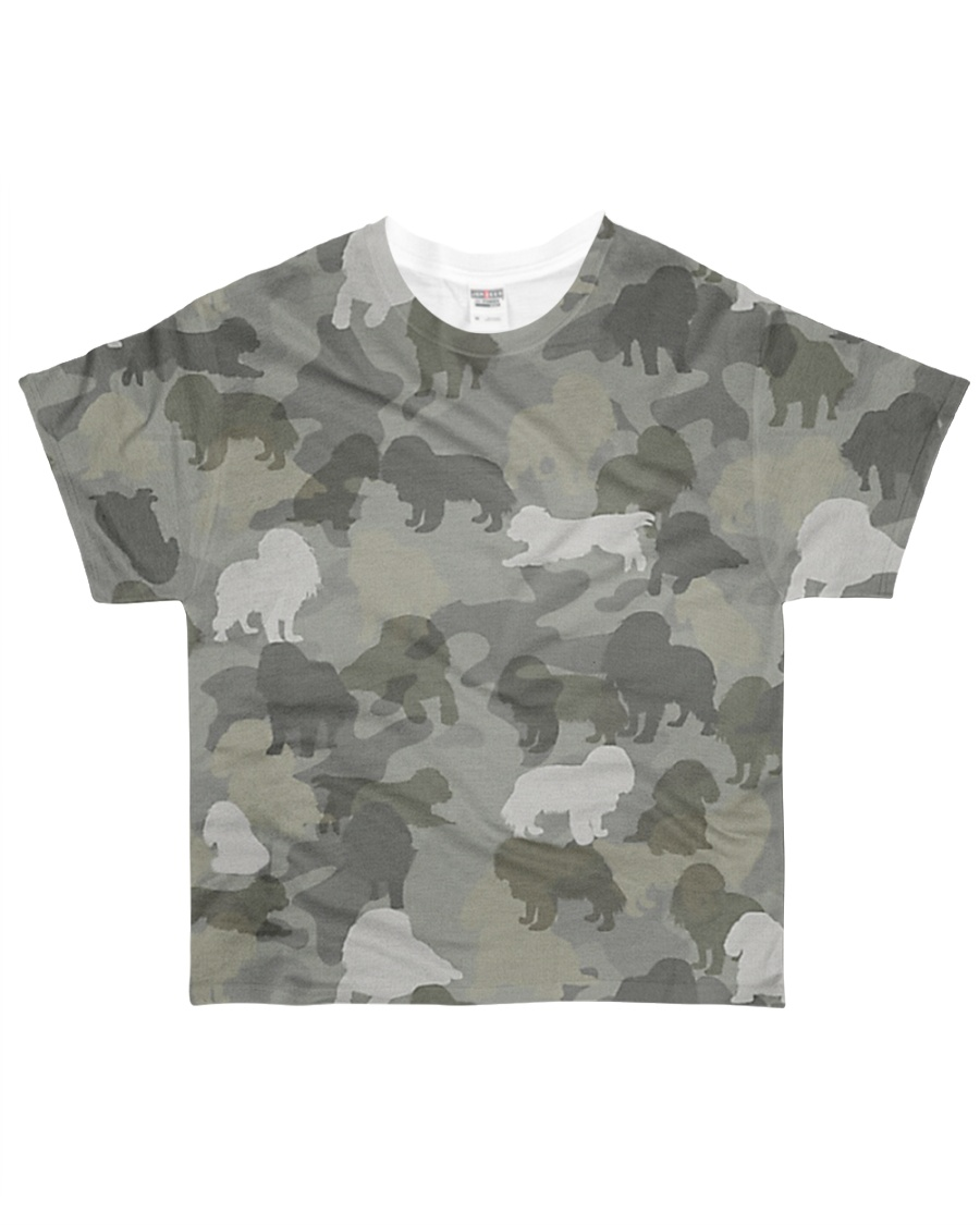 Camo Cavalier King Charles Spaniel  All-over T-Shirt