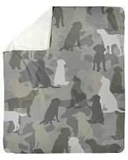 "Labrador Retriever - Camouflage Sherpa Fleece Blanket - 50"" x 60"" thumbnail"