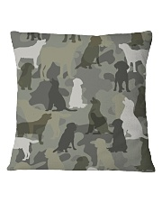 Labrador Retriever - Camouflage Square Pillowcase thumbnail