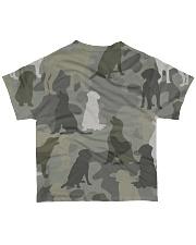 Labrador Retriever - Camouflage All-over T-Shirt back