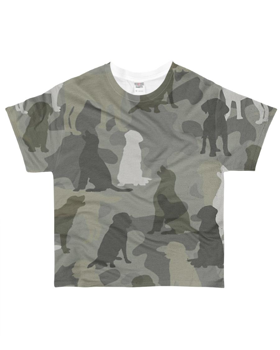 Labrador Retriever - Camouflage All-over T-Shirt