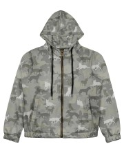 Camo Australian Cattle Women's All Over Print Full Zip Hoodie thumbnail