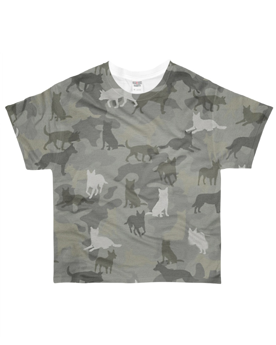 Camo Australian Cattle All-over T-Shirt