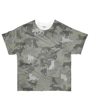 Camo Australian Cattle All-over T-Shirt front