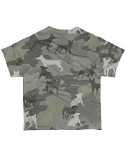 Camo Rat Terrier All-over T-Shirt back