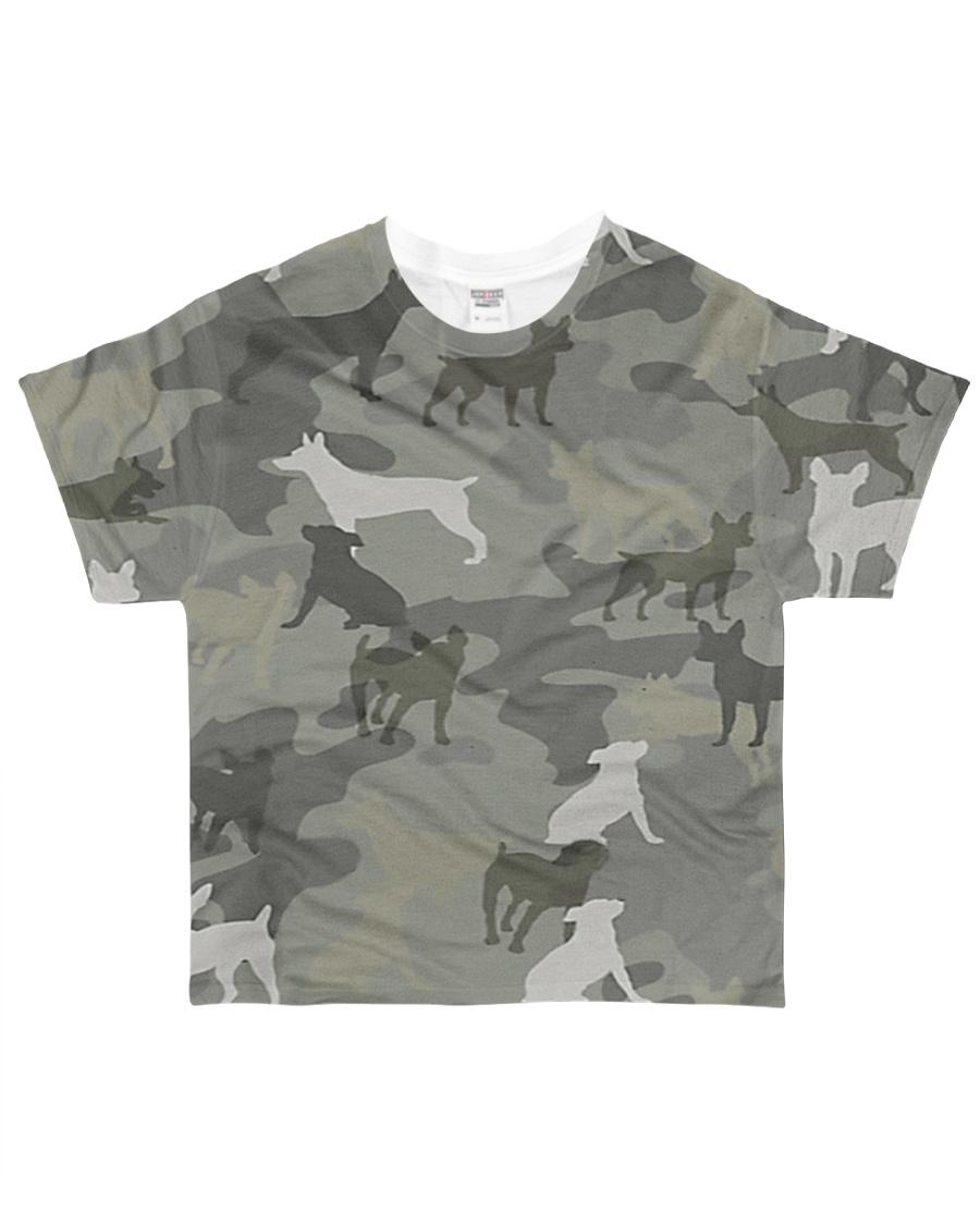 Camo Rat Terrier All-over T-Shirt