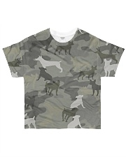 Camo Rat Terrier All-over T-Shirt front