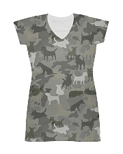 Camo Jack Russell Terrier-2 All-over Dress thumbnail