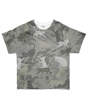 Camo Cat All-over T-Shirt front