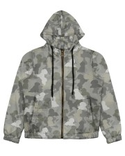 Camo Bichon Frise Women's All Over Print Full Zip Hoodie thumbnail