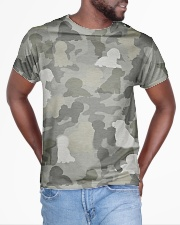 Camo Bichon Frise All-over T-Shirt aos-all-over-T-shirt-lifestyle-front-04