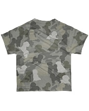 Camo Bichon Frise All-over T-Shirt back