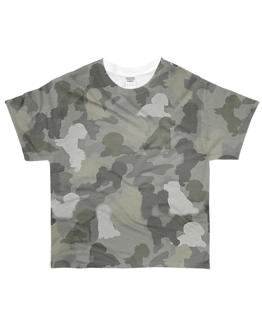 Camo Bichon Frise All-over T-Shirt