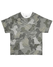 Camo Bichon Frise All-over T-Shirt front