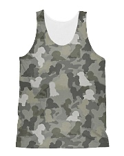 Camo Bichon Frise All-over Unisex Tank thumbnail