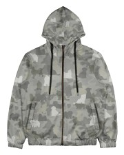 Camo Maltese  Men's All Over Print Full Zip Hoodie thumbnail