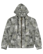 Camo Maltese  Women's All Over Print Full Zip Hoodie thumbnail