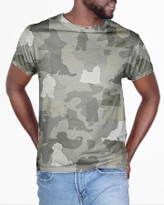 Camo Maltese  All-over T-Shirt aos-all-over-T-shirt-lifestyle-front-04