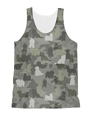 Camo Maltese  All-over Unisex Tank thumbnail
