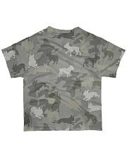 Camo Boston Terrier All-over T-Shirt back