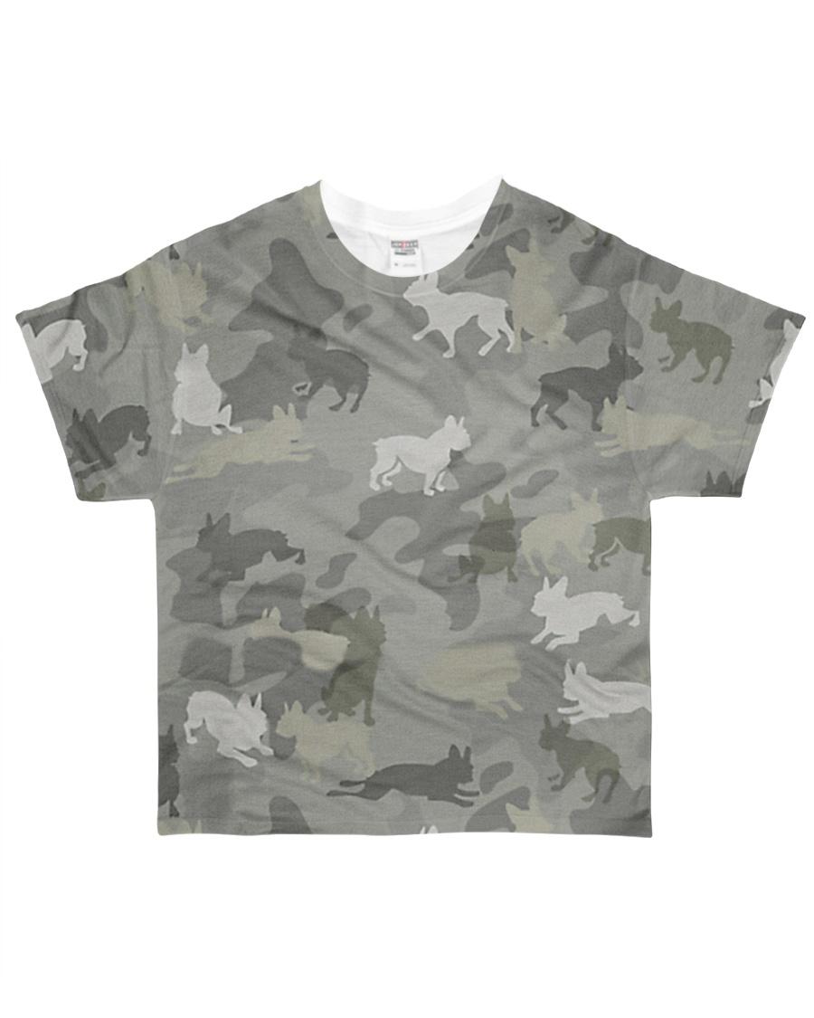 Camo Boston Terrier All-over T-Shirt