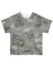 Camo Boston Terrier All-over T-Shirt front