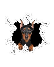 Doberman Pinscher Sticker - Single (Vertical) front