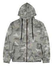 Camo Great Pyrenees Men's All Over Print Full Zip Hoodie thumbnail