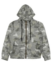 Camo Great Pyrenees Women's All Over Print Full Zip Hoodie thumbnail