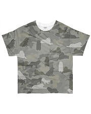 Camo Great Pyrenees All-over T-Shirt front
