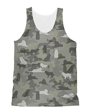 Camo Great Pyrenees All-Over Unisex Tank tile