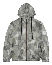 Camo Golden Retriever  Men's All Over Print Full Zip Hoodie thumbnail