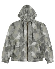 Camo Golden Retriever  Women's All Over Print Full Zip Hoodie thumbnail